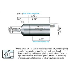 NSK MS Series Air Turbine Spindle - 150,000 rpm|escape