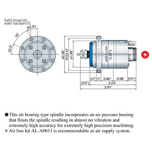 NSK Nakanishi NRAF5080 Air Bearing Spindle - 80,000rpm|escape